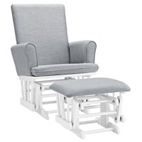 Angel Line Ashley Semi-Upholstered Glider and Ottoman