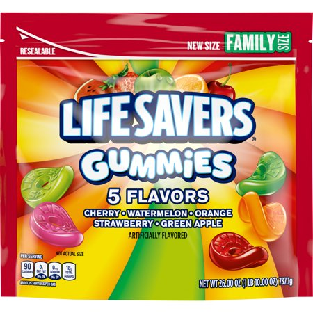 Life Saver Suckers (LIFE SAVERS Gummies 5 Flavors Candy, 26-Ounce Family Size)