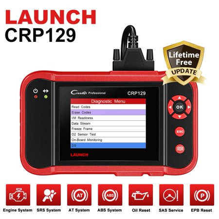 Launch CRP129 OBD2 Scanner Car Diagnostic Scan Tool with with Eng/Transmission/ABS/Airbag System Test and EPB/SAS/Oil Reset (Best Auto Diagnostic Scan Tool)