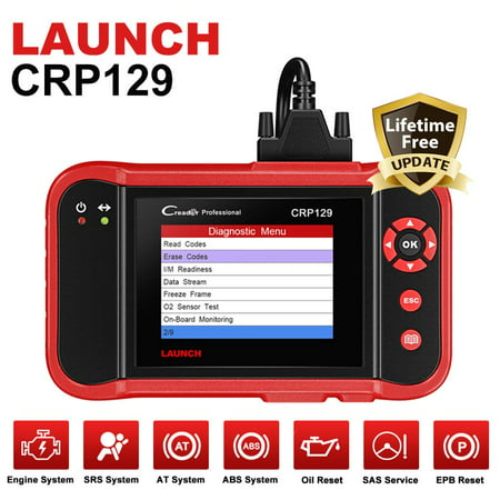 Launch CRP129 OBD2 Scanner Car Diagnostic Scan Tool with with Eng/Transmission/ABS/Airbag System Test and EPB/SAS/Oil Reset (Best Airbag Scan Tools)