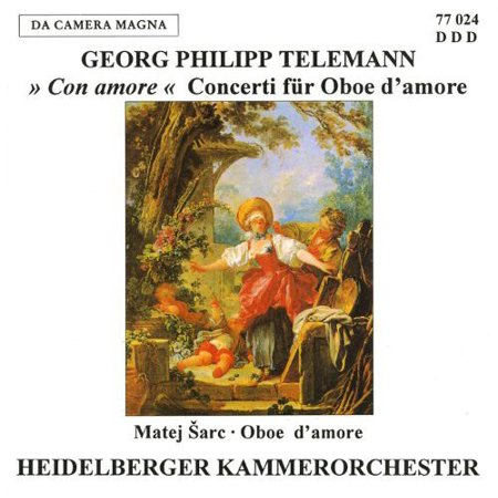 - Telemann / Sarc - Con for Oboe Damore [CD]