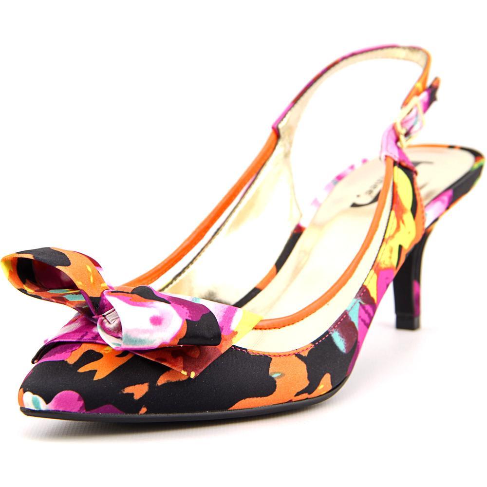 J. Renee Kendhl Women Pointed Toe Canvas Slingback Heel by J. Renee