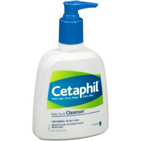 Cetaphil Daily Facial Cleanser for Normal to Oily Skin, 8