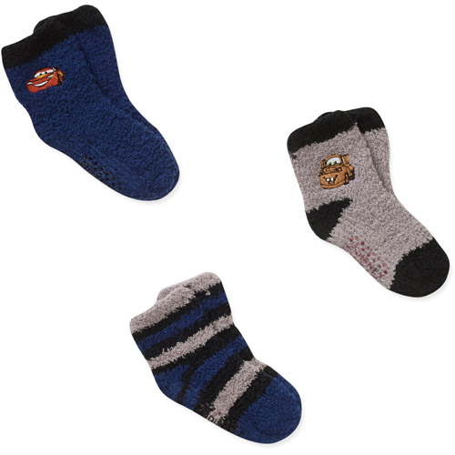 Disney Cars Baby Toddler Boy Socks, 3-Pack
