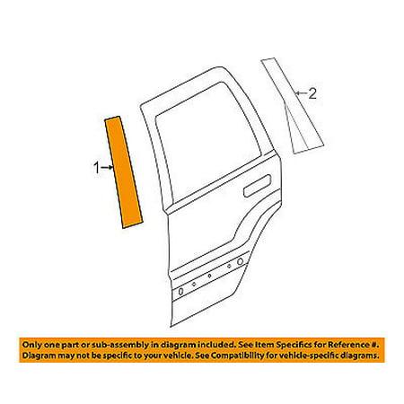 Dodge CHRYSLER OEM Durango Exterior-Rear-Applique Window Trim Left