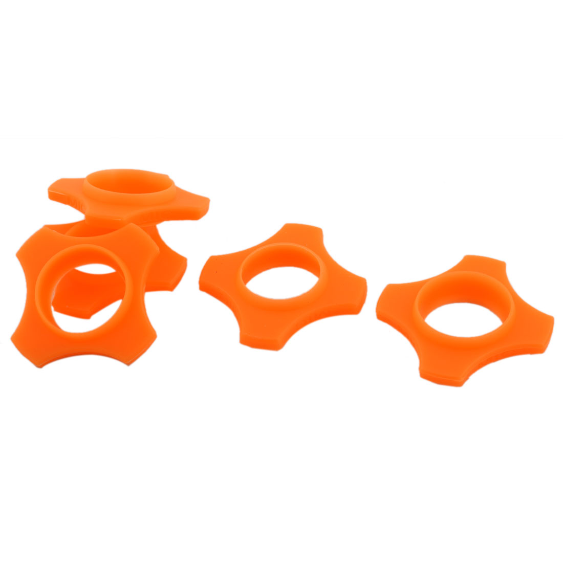 Wireless Handheld Microphone Anti Roll Mic Protection Silicone Ring Orange 5 PCS