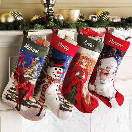 Vintage Needlepoint Christmas Stockings.Personalized Needlepoint Christmas Stocking Walmart Com