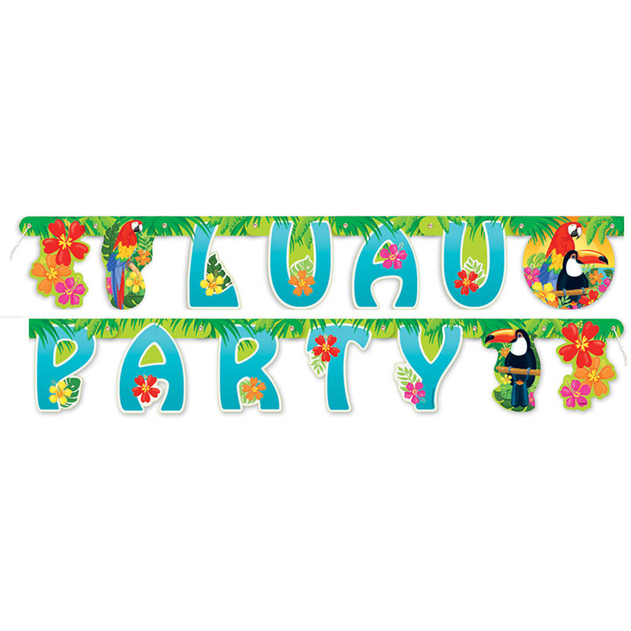 5.5ft Tropical Island Luau Banner
