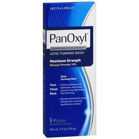 Panoxyl Benzoyl Peroxide Foaming Acne Wash 10% 5.5oz - (Benzoyl Peroxide Body Wash)