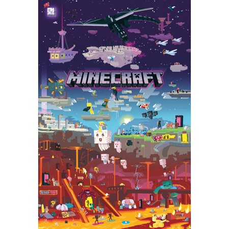 Minecraft: The World Beyond - Gaming Poster / Print (City) (Size: 24