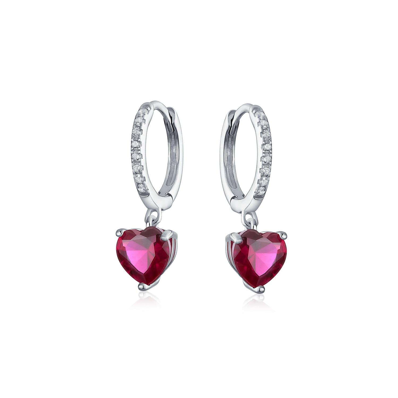 925 Sterling Silver Pink Enamel Bow Lever Back Dangle Hoop Earrings for Girls