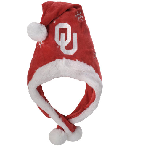 NCAA Thematic Headwear Santa Hat, Oklahoma Sooners