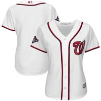 Washington Nationals Majestic Women's 2019 World Series Champions Home Cool Base Patch Jersey - White