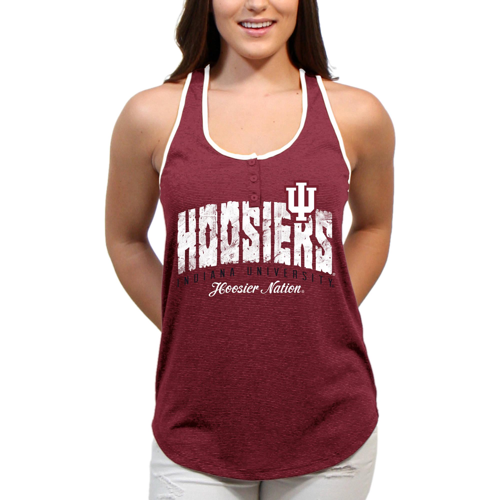 Indiana Hoosiers Choppy Arch Women'S/Juniors Team Tank Top