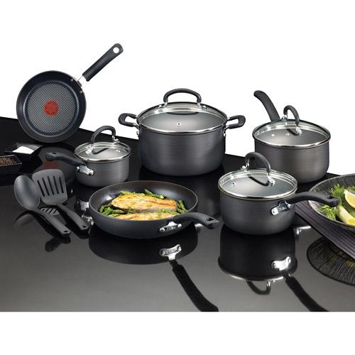 Olla O Sarten Ultimate Hard Anodized 12-Piece Cookware Set + T-fal en VeoyCompro.net
