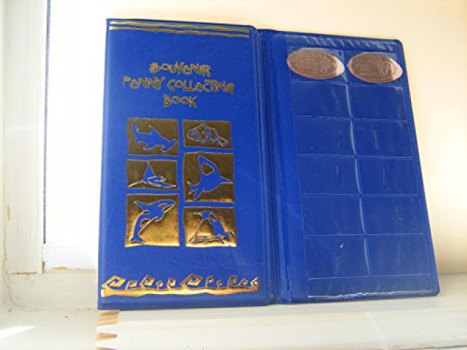 Green /& Blue Elongated Penny Souvenir Collecting Book with 2 FREE Pennies!