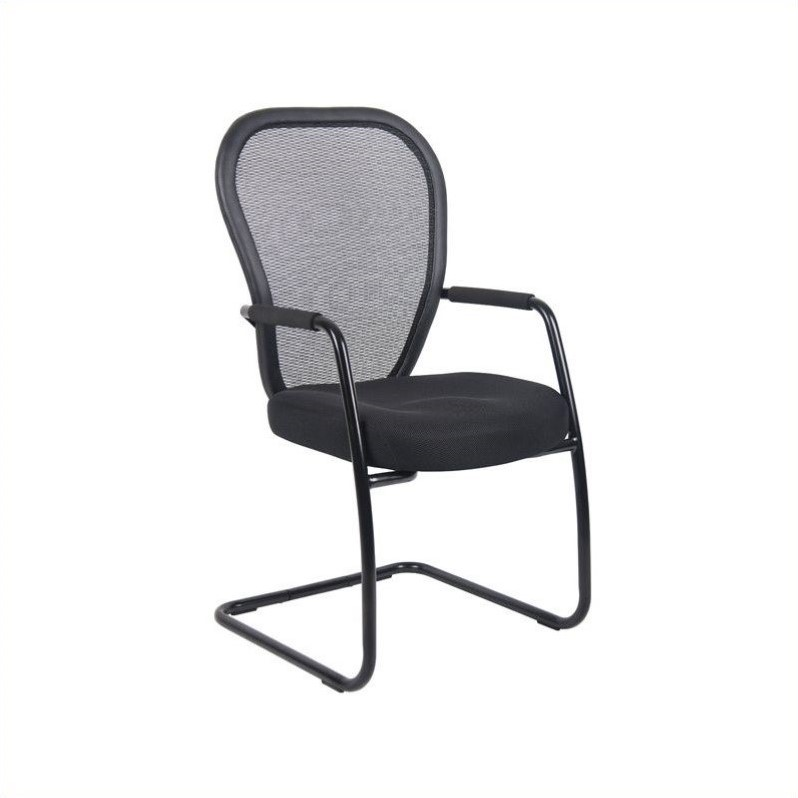 Boss Mesh Guest Chair with Black Sled Base