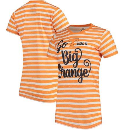 Tennessee Striped Shirt - Tennessee Volunteers Pressbox Women's Crimean Team Striped T-Shirt - White/Tennessee Orange