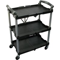 Olympia 3-Shelf 4-Wheeled Utility Cart