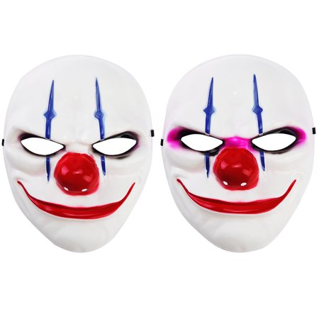 2PCs Funny Clown Mask Costume Mask Full-face CosplayHalloween Masquerade Party - Payday 2 Halloween Costumes