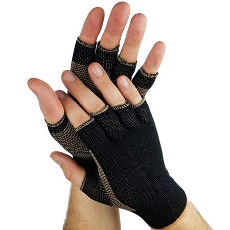 Unisex Copper Compression Gloves Reduces Swelling Hands And Eases The Pain Of Sore