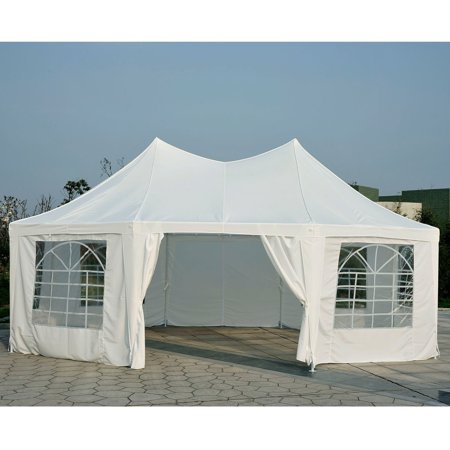 New MTN-G 22' x 16' Large Octagon Outdoor Wedding Party Canopy Gazebo