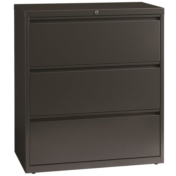 Hl8000 Series 36 Inch Wide 3 Drawer Lateral File Cabinet Charcoal Walmart Com Walmart Com