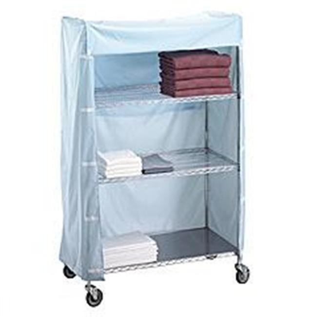 R&B Wire 186072C 18 inch x 60 inch x 72 inch Metal Frame Linen Cart Nylon Cover