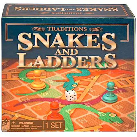 Snakes & Ladders 13.5â€x13.5†Board Game