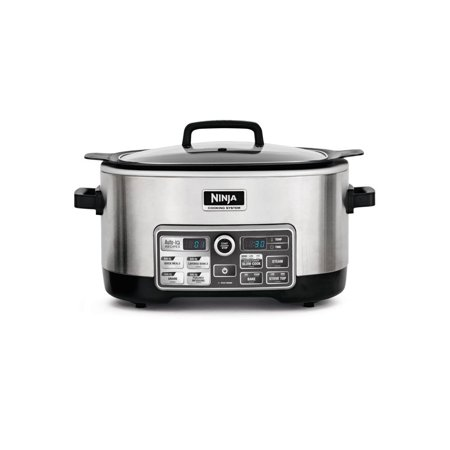 Refurbished NINJA CS970QBK 4 IN 1 6 QUART ACCUTEMP SLOW COOKING SYSTEM (Certified) (Ninjas Slow Cooker)