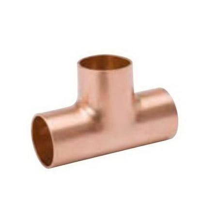 Streamline WT-600 Solder Joint Tube Tee, 3 Inch, Copper, 700 psi, Wrot Copper, Seamless, 250 deg F