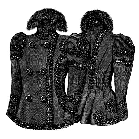 - Sewing Pattern: 1897 Autumn Jacket with Design Pattern