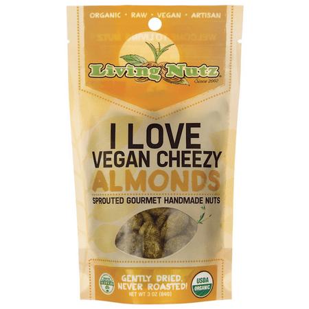 Living Nutz I Love Vegan Cheezy Almonds 3 oz Pkg