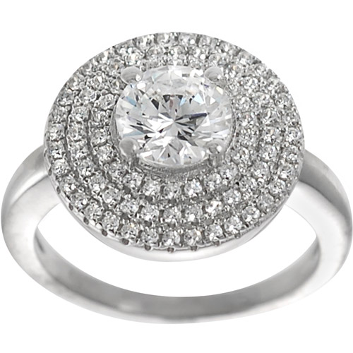 Alexandria Collection Sterling Silver Cubic Zirconia Anniversary Ring