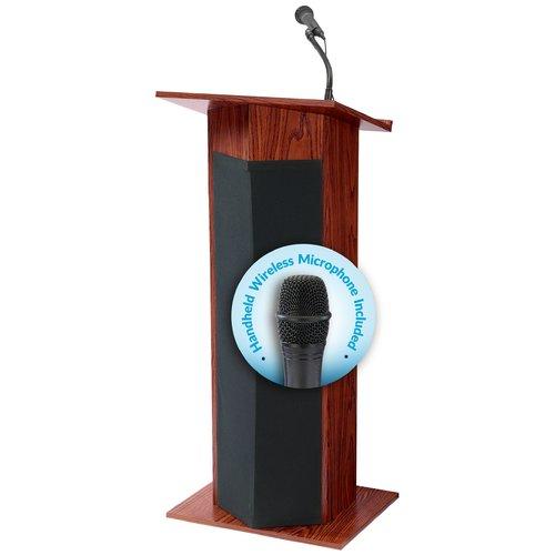 Oklahoma Sound SOUND LECTERN WITH WRLS MIC MEDIUM OAK WIT...
