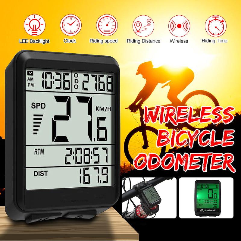 Waterproof LCD Backlight Bike Computer Odometer Bicycle Cycling Speedometer US