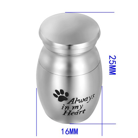 Premium Always in my Heart Dog Paw Cremation Urn Ash Holder Pet Memorial Urn