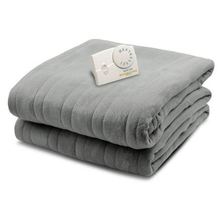 Biddeford Blankets Comfort Knit Fleece Electric Blanket