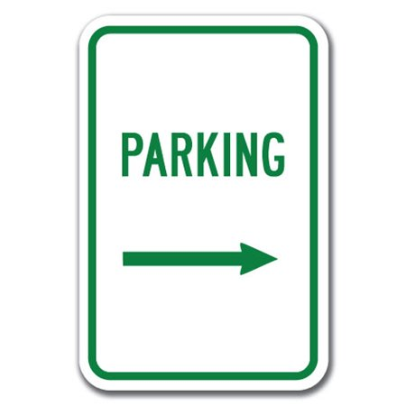 Reserved Parking Right Arrow (Parking with Right Arrow  Sign 12