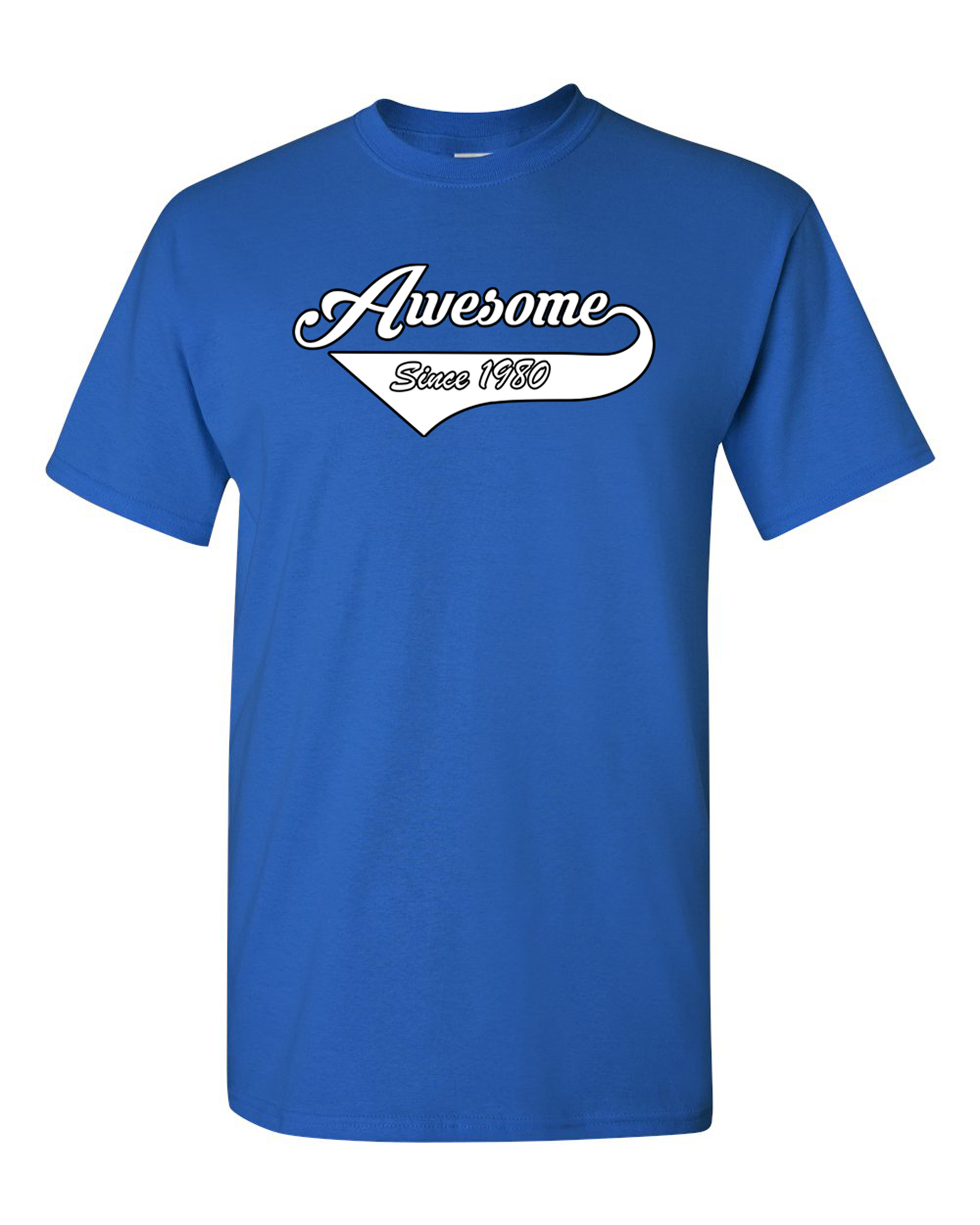 Ladies Awesome Since 1980 With Tail Happy Birthday Gift Funny DT T-Shirt Tee
