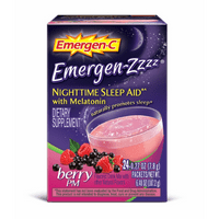 Emergen-C Emergen-Zzzz (24 Count, Berry PM Flavor) Dietary Supplement Fizzy Drink Mix Nighttime Sleep Aid with Melatonin with 500mg Vitamin C, 0.29 Ounce Packets