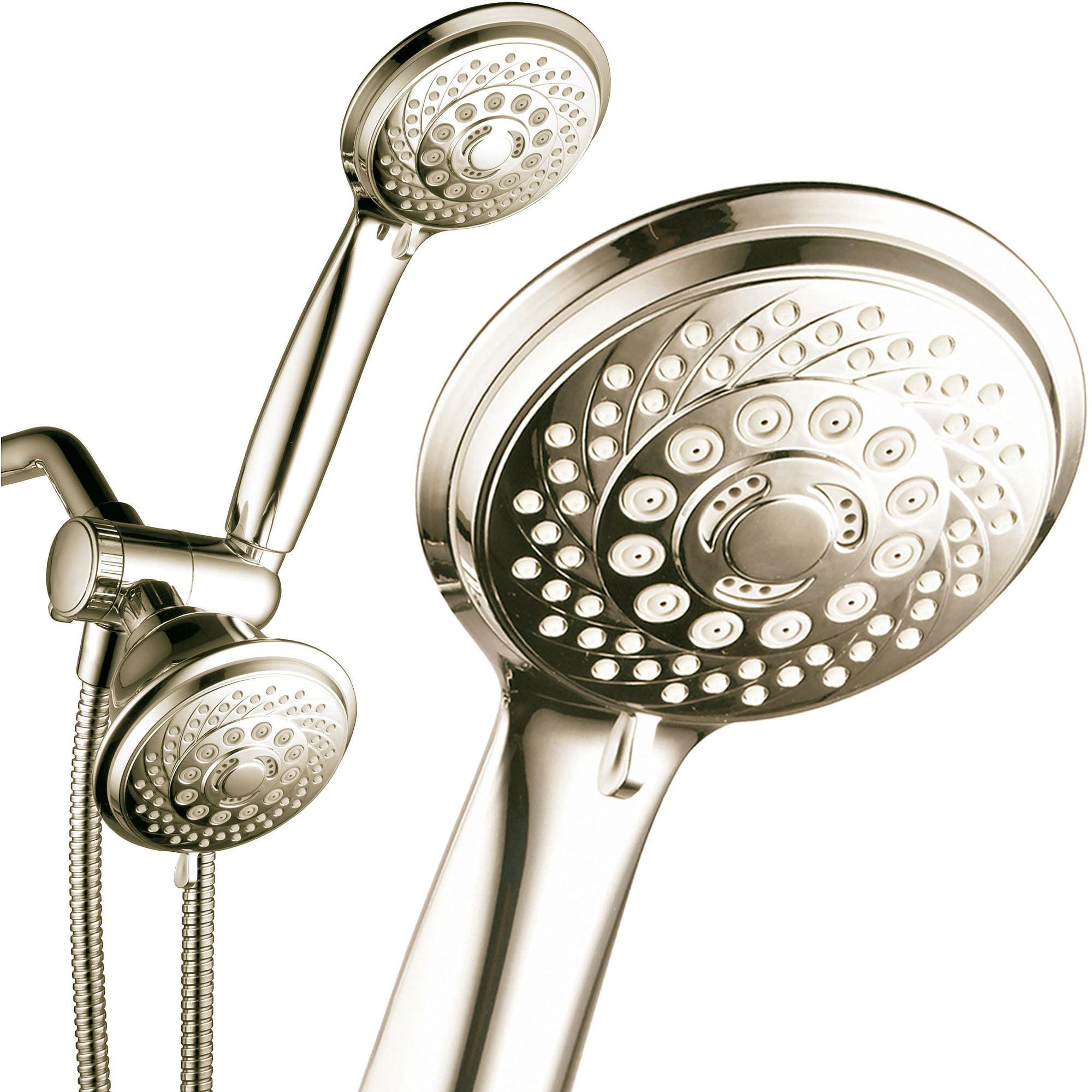 Buy PowerSpa 28-Setting Luxury 3-Way Shower Combo, Brushed Nickel by Generic