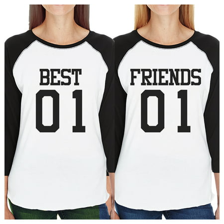Best01 Friends02 Best Friend Matching Baseball Jerseys Women