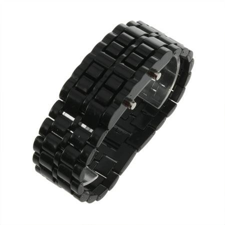 Leshp Led Digital Samurai Lava Wrist Watch Plastic Sports Style Mens Womens Unisex