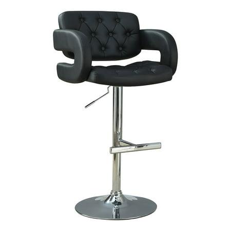 Coaster Company Modern Adjustable Bar Stool, Black Black Adjustable Bar Stools