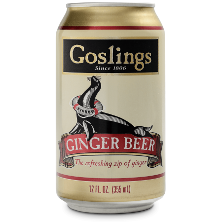 (12 Cans) Goslings Ginger Beer, 12 Fl Oz
