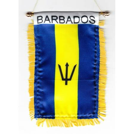Barbados Window Hanging Flag (Barbados Flag Stickers)