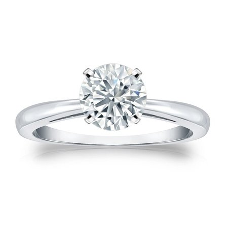 Certified 2.25ct Round White Diamond Engagement Wedding Ring In 14k White Gold Diamond