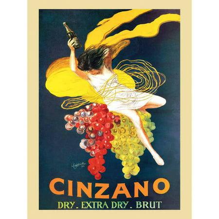 Cappiello Cinzano Brut Vintage Advertising Art Print