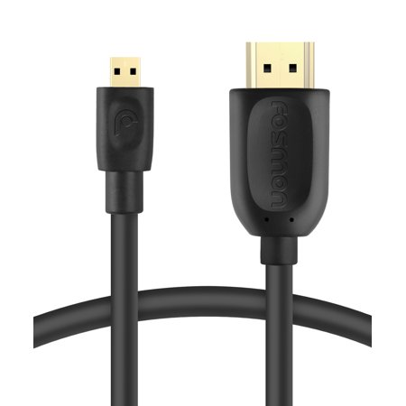 Fosmon Micro Hdmi To Hdmi Cable Support Full Hd 3D 1080P For Gopro Hero3 Hero3   Micro Hdmi Smartphones   Tablets   6Ft
